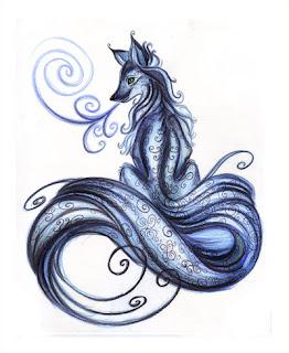 the tribal blue dragon wolf tattoo. Black Bedroom Furniture Sets. Home Design Ideas