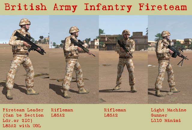 Infantry Fire Team : Real and simulated wars february
