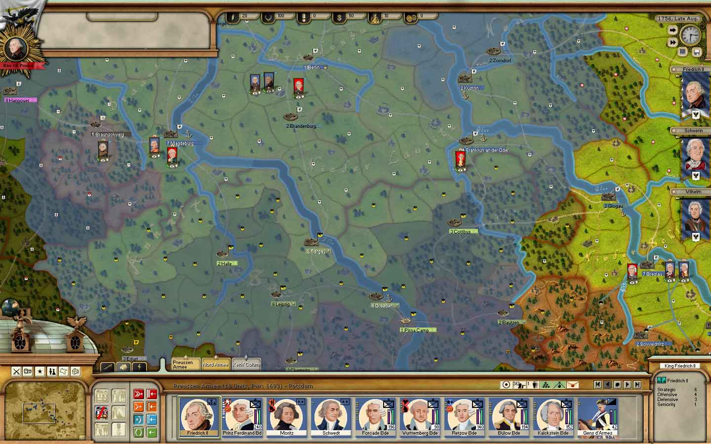 rise of prussia Players will have the opportunity to assume the roles of military and political leaders of either the prussian kingdom or nations hostile to prussia (austria, russia, and france) in a recreation of the exciting battle that encompassed much of europe throughout the years of 1756-1763.