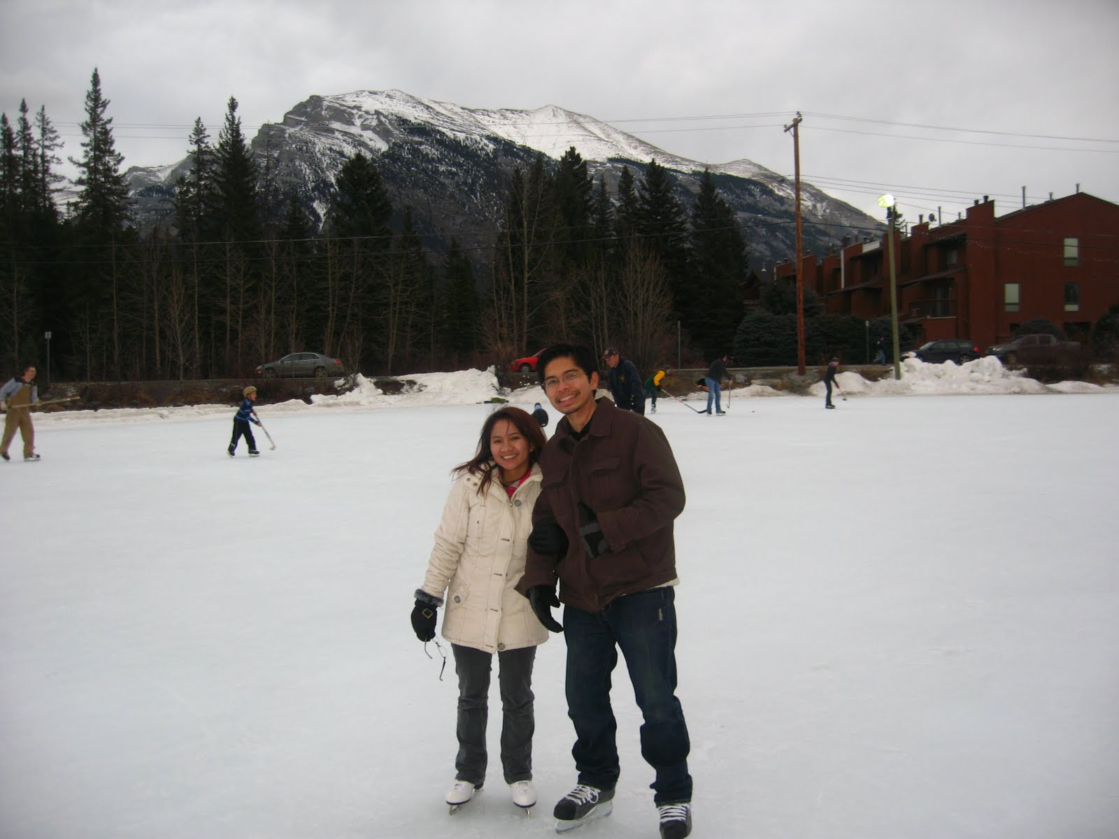 time at the canmore skating pond and is located on 7th avenue at mallard