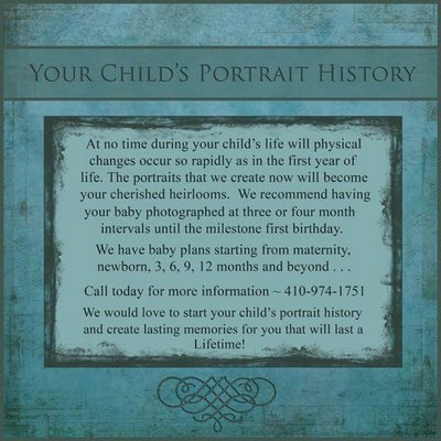 Create a Portrait History for your child!