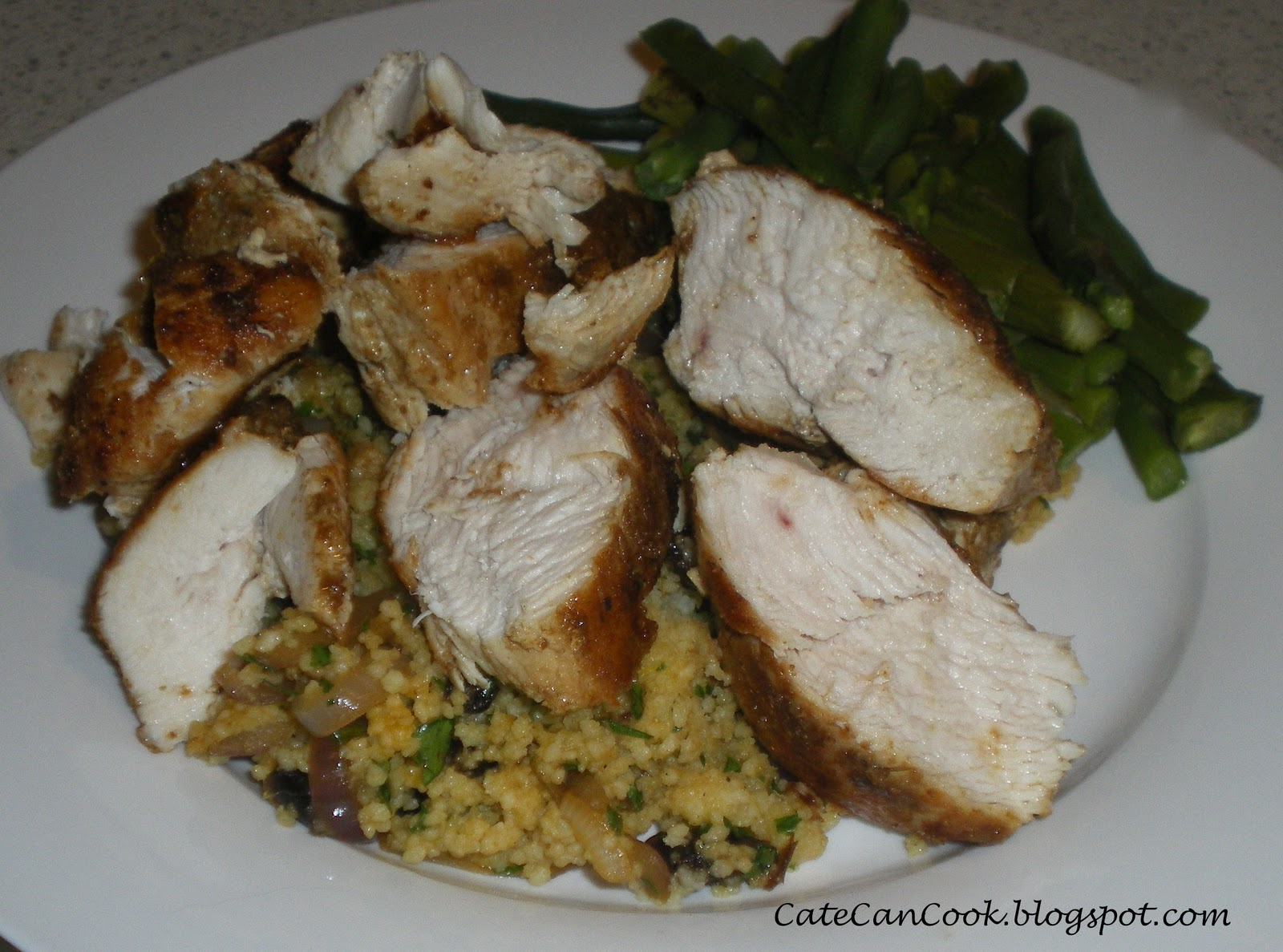 how to cook pearl couscous with chicken stock