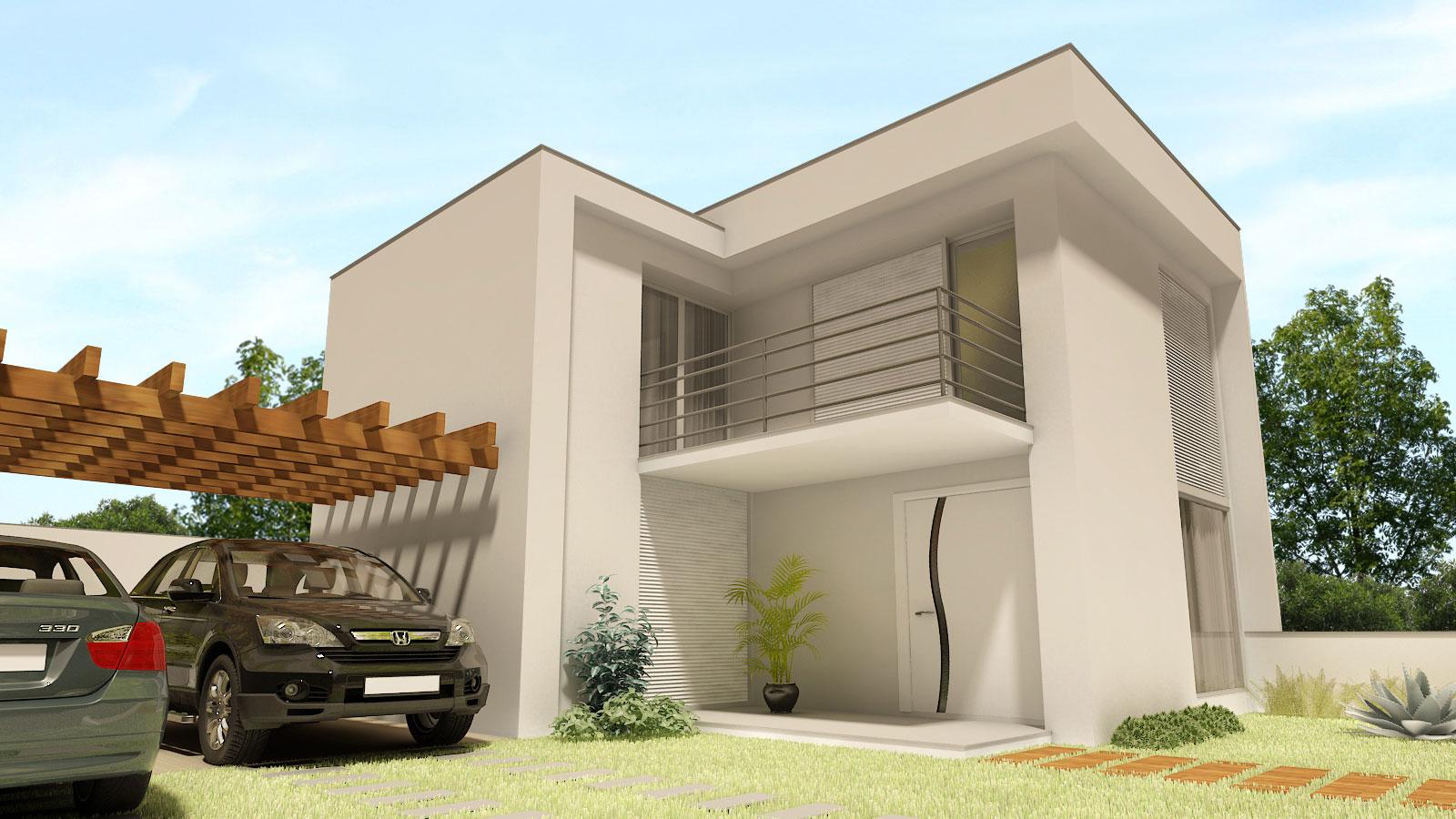 #9A6A31  Sartori Projetos 3D e AutoCAD: Projeto 3D Perspectivas Sobrado 1600x900 píxeis em Criar Casas 3d