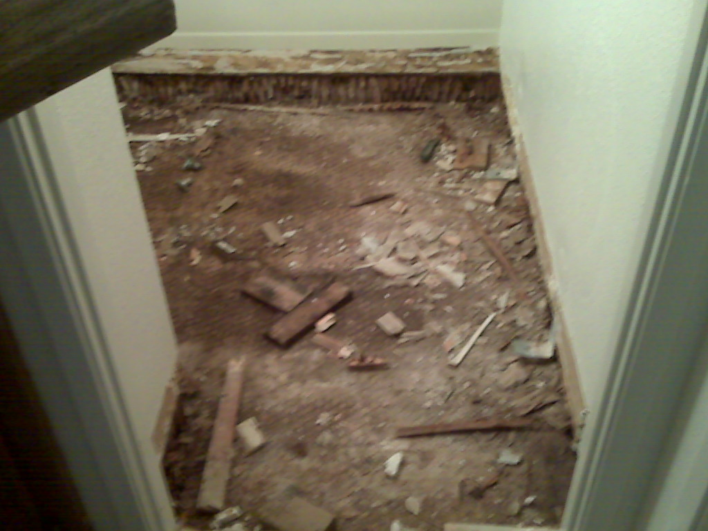 Bathroom Floor Dry Rot Repair
