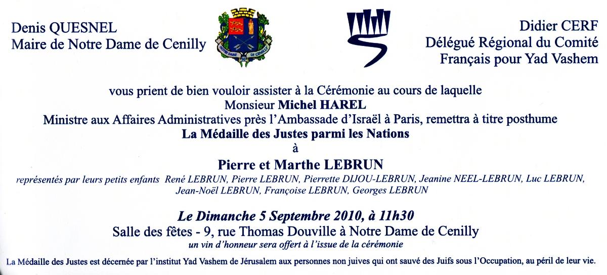 Connu Blog du Comité Français pour Yad Vashem: P. 267. Les Justes de  QW57