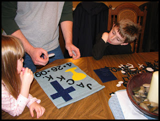 The First Communion Banner Making is a Family Affair