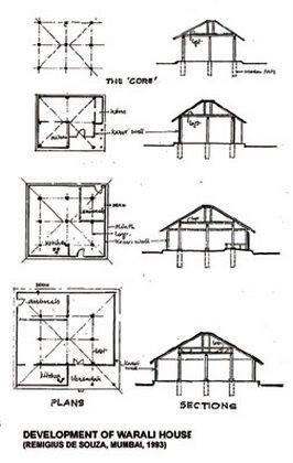 Stylized structural system warli house thane dist maharashtra