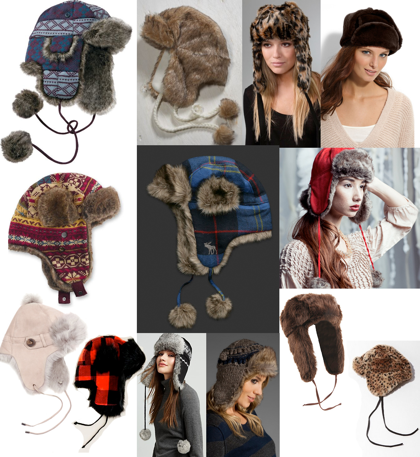 Trapper Hat j Crew Patchwork Trapper Hat