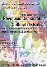 El Viceministre Lizondo parla de la Revolució boliviana