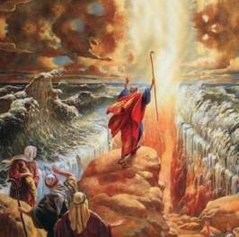 conheça a redencão abrindo o mar vermelho e fechando a bíblia