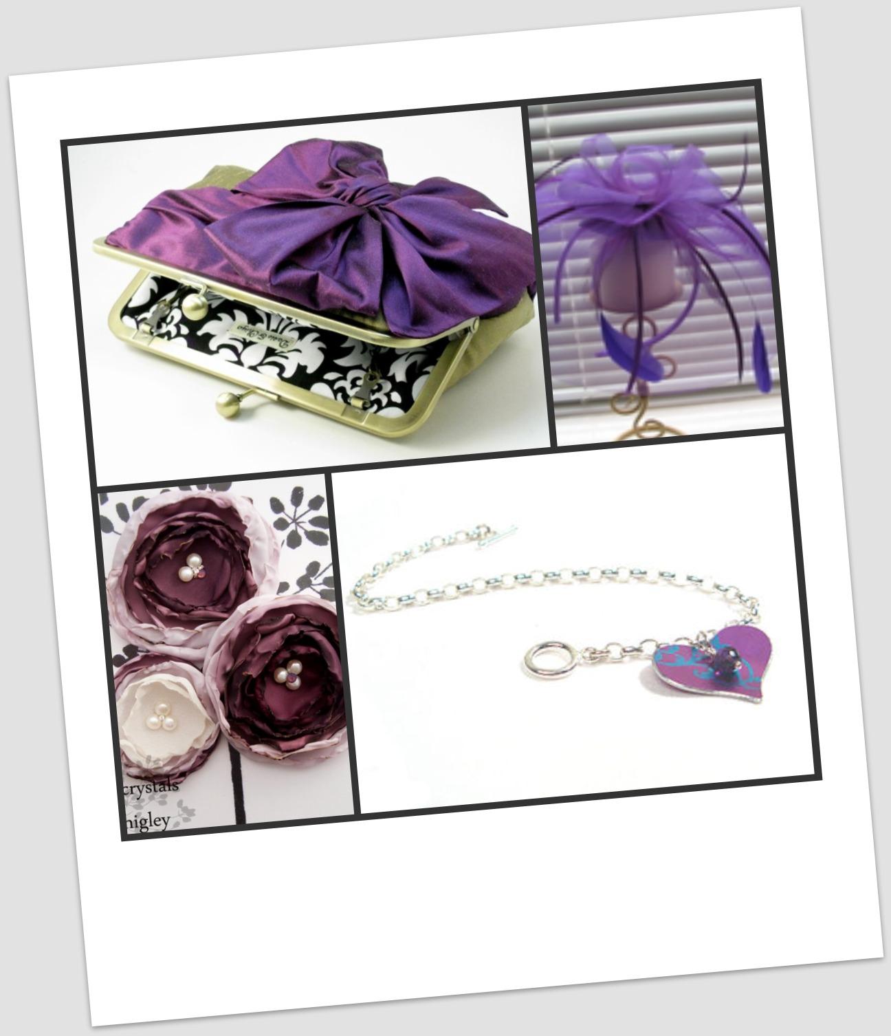 Inspired Celebration Inspiration Purple Winter Wedding