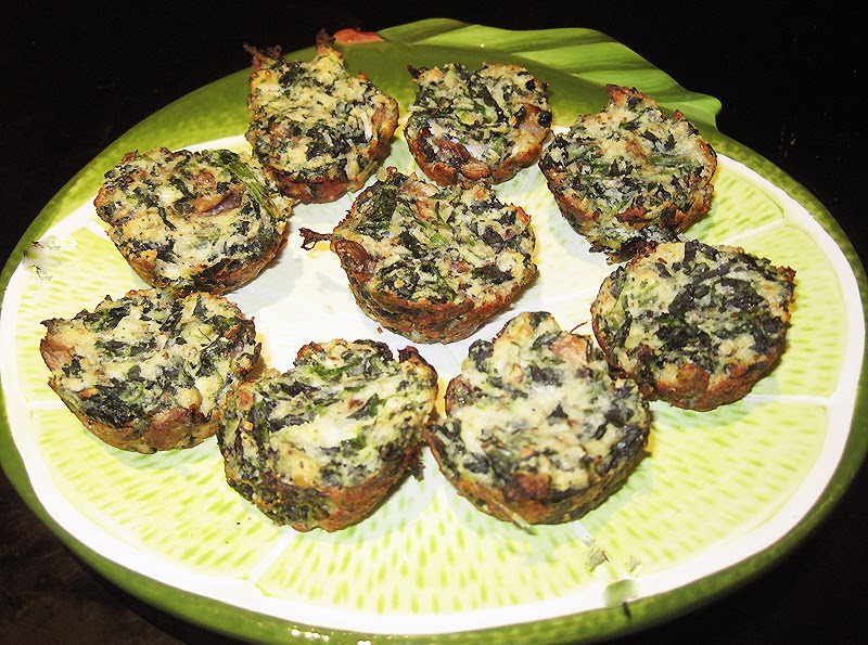Workout then Cook!: Mini Spinach Frittata