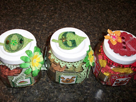 Three more dog treat jars made for my coworkers and their pets.