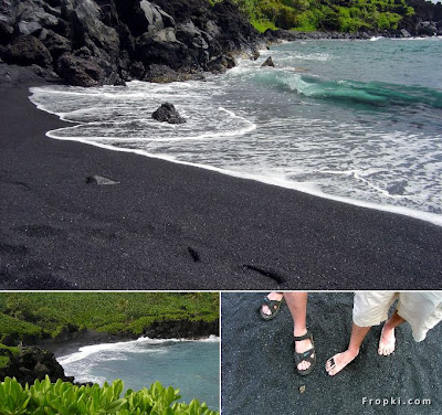 Beach with Black Sand
