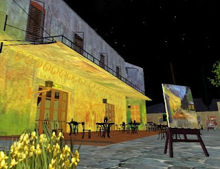 Virtual Starry Night - Second Life landing point