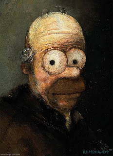 Homer Simpson as Rembrandt