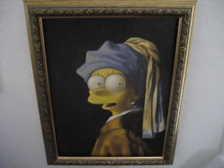 Lisa Simpson as Vermeer's Girl with a Pearl Earring
