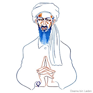 Osama Bin Laden illustration