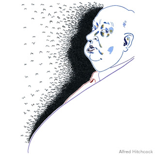 Alfred Hitchcock illustration
