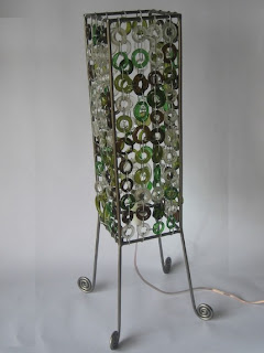Recycled Wine Bottles Table Lamp
