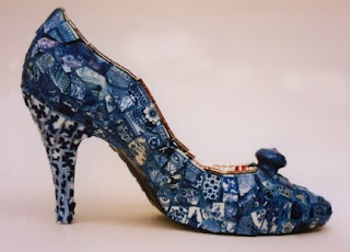Mosaic China Shoes by Candace Bahouth