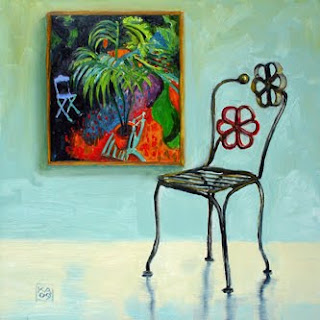 flowers chair painting