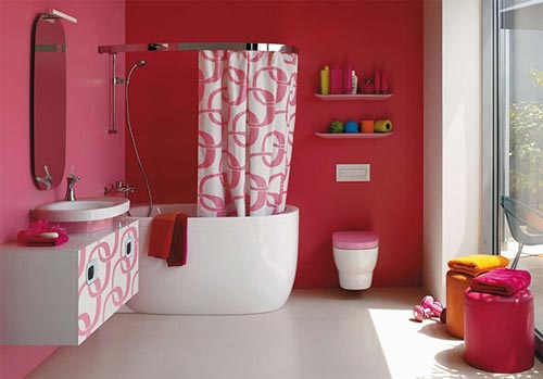 Suite de Lubiane A.Granger  Pink-Bathrooms-Pink-Bathroom-Ideas-by-Laufen