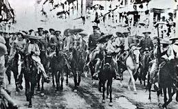 Villa y Zapata entrando a ciudad de México
