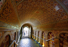 A passage in Holy Temple of the Tooth, Sri Lanka