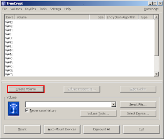 TrueCrypt Application Window