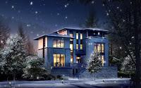 papel de parede casa a noite