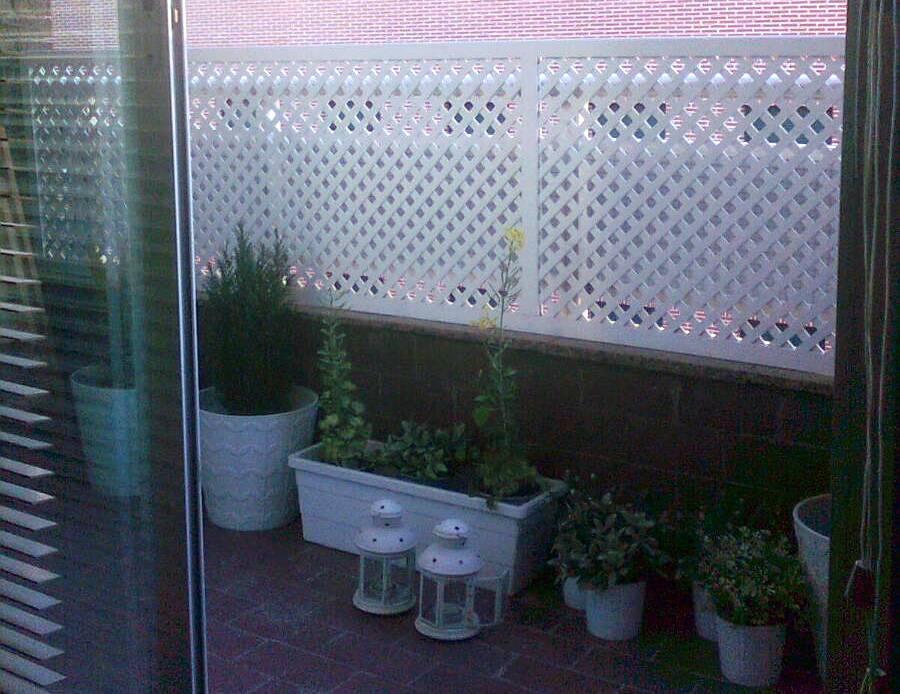 Cubrir barandilla balcon materiales de construcci n para - Tapar barandilla balcon ...