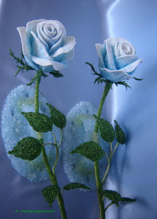 Оплетение бусины бисером, Орхидея из бисера, Пасхальное яйцо, Роза из.