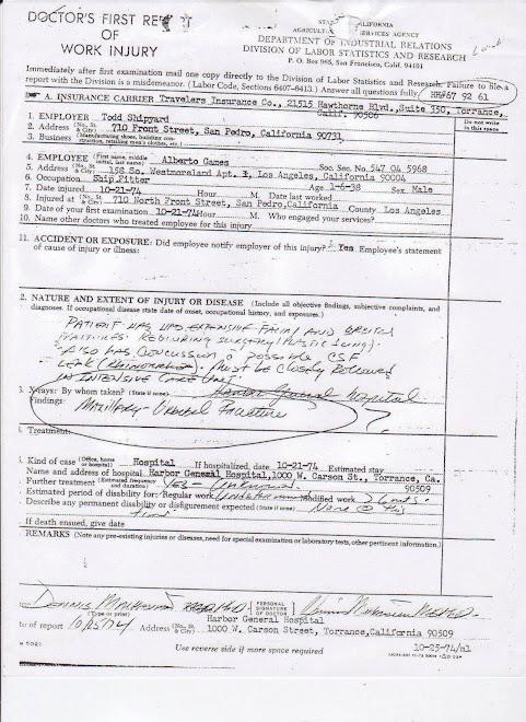 Harbor Discharge Report (Nov. 6, 1974)