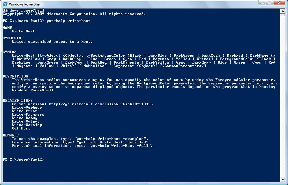 write host powershell I want the following command executed which should be 6 spaces with a red background with no newline write-host  6 -backgroundcolor red -nonewline.