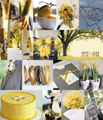 Gray and Yellow Wedding Centerpieces | Wedding-