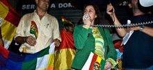 concenració de solidaritat amb el poble bolivià