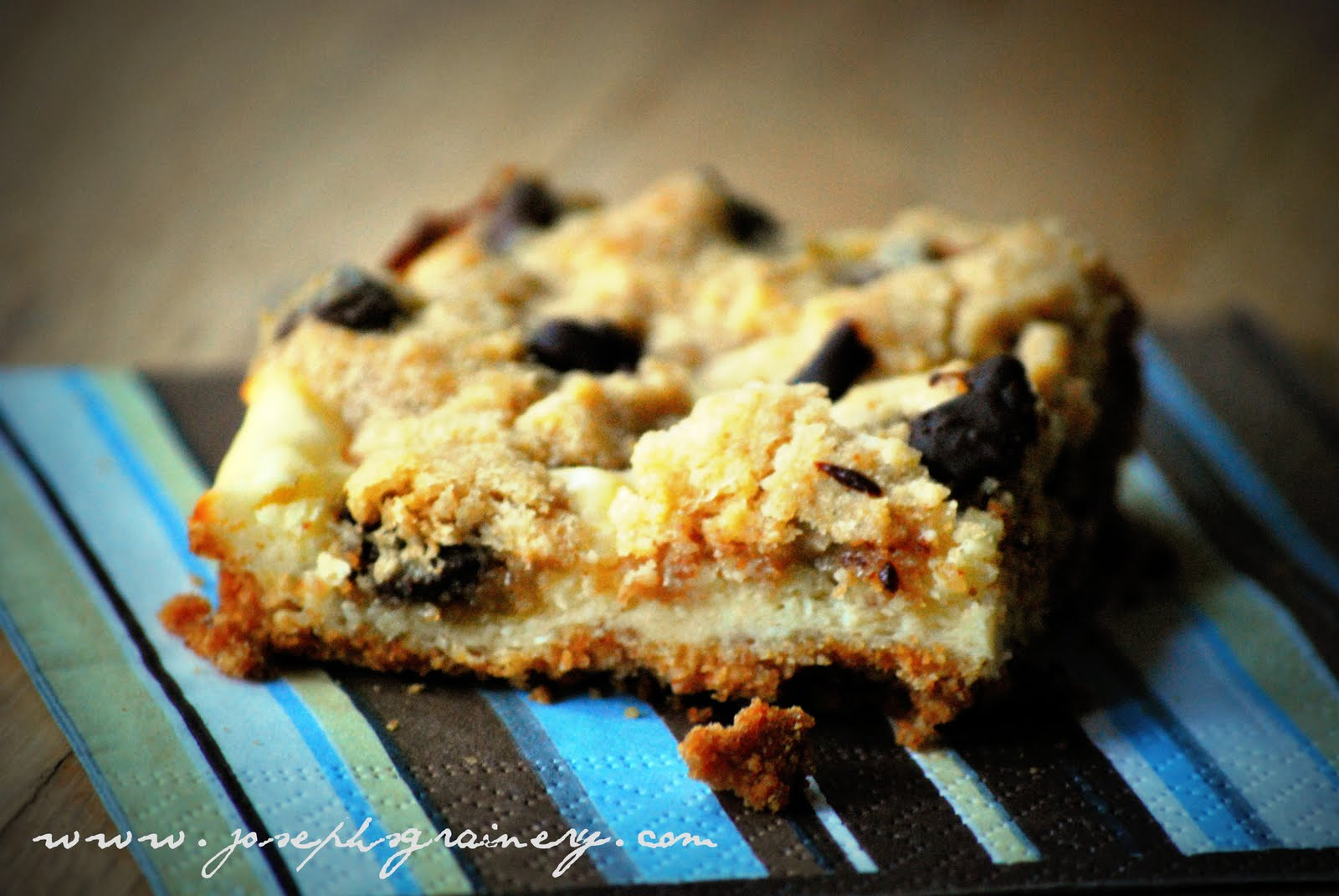 Joseph's Grainery: Chocolate Chip Cookie Dough Cheesecake Bars