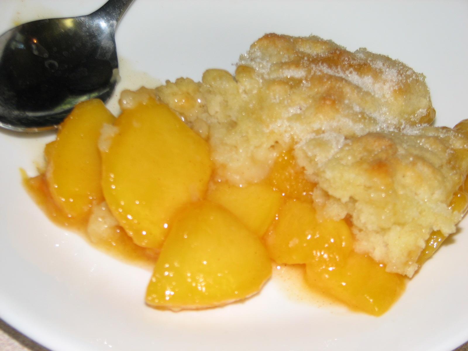 Sentiments from my Kitchen: Fresh Peach Cobbler