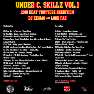 download: lord faz presents: dj kesmo and lord faz - under c skillz vol.1 front cover, 2010 beat trotterz reedition