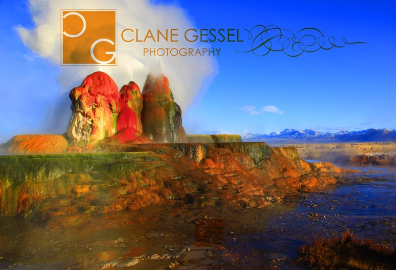 Fly Geyser in the Northwestern Nevada Black Rock Desert near Burning Man and Gerlach, NV