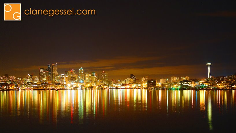 Seattle cityscape from gas works park in lake union reflection reflections landscape photogrpahy photo picture skyline