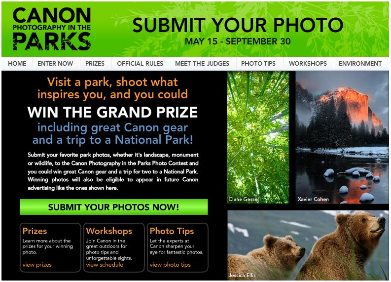 Canon in the parks national photo contest