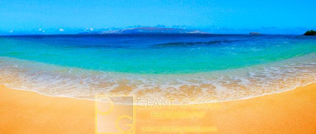Sandy beach, white beach paradise, maui