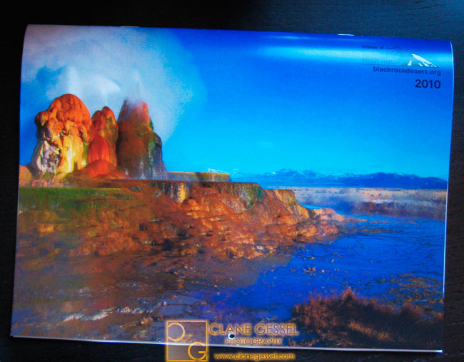 fly geyser, black rock desert calendar