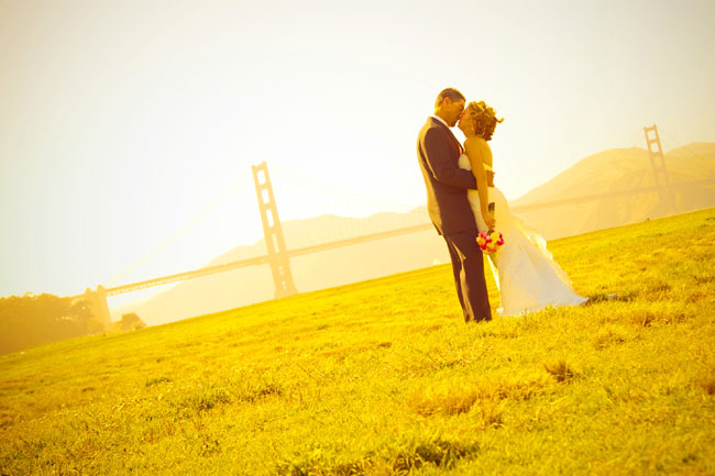 san francisco wedding pictures, chrissy fields wedding photo