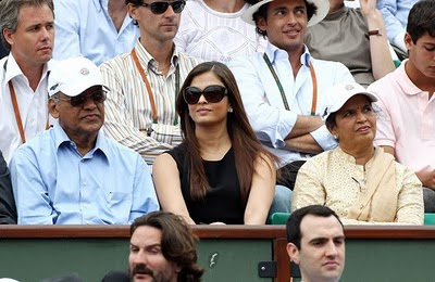 Photos of Aishwarya Rai in french open III