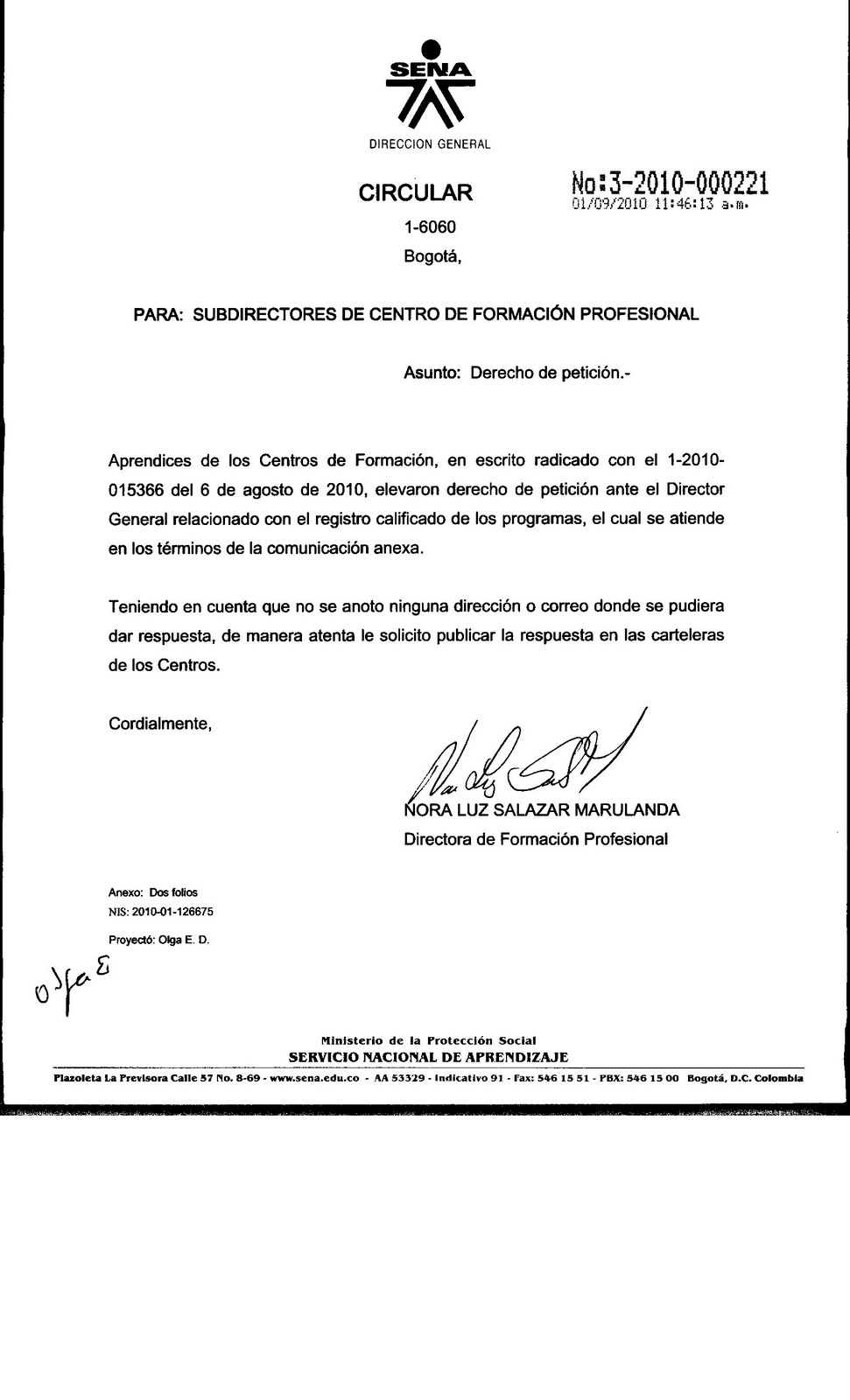 modelo de carta de peticion