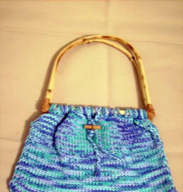 Bolsa De Tecido Com Alça De Bambu : Luz weber bolsa de tric? com al?a bambu