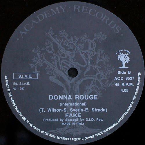 Fake - Donna Rouge (Remix) Maxi 87'